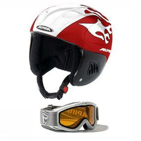 Helm + skibril Carat Junior