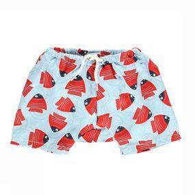 Zwemshort Fishy Red Baby Double Protection