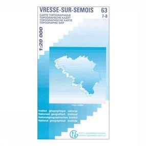 Kaart Vresse-sur-Semois