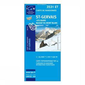 Wandelkaart St-Gervais-les-Bains / Massif du Mont Blanc