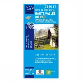 Wandelkaart Haute Vallée du Var / Gorges de Daluis