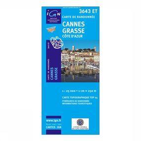 Wandelkaart Cannes / Grasse / Côte d'Azur