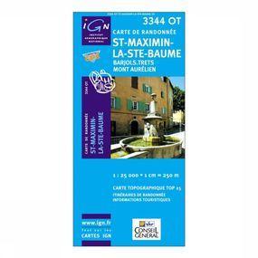 Wandelkaart St-Maximin / La Ste-Baume