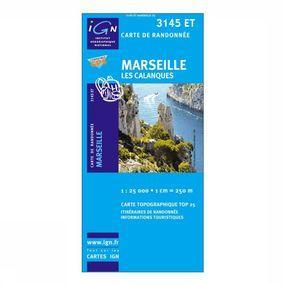 Wandelkaart Marseille / Les Calanques