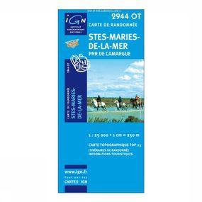 Wandelkaart Stes-Maries-de-la-Mer / PNR de Camargue