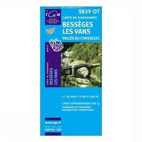 Wandelkaart Bessèges / Les Vans / Vallée du Chassezac