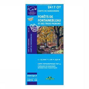 Wandelkaart Forêts De Fontainebleau et Des Trois Pignons