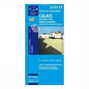 Wandelkaart Calais Site des Caps / Forêt de Guînes PNR