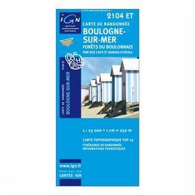 Wandelkaart Boulogne-sur-Mer / Forêts du Boulonnais PNR