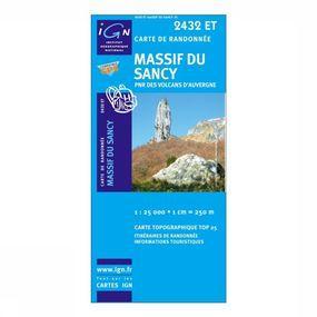 Wandelkaart Massif du Sancy / PNR des Volcans d'Auvergne