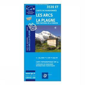 Wandelkaart Les Arcs / La Plagne / PN de la Vanoise
