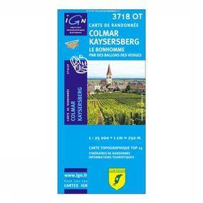 Wandelkaart Colmar / Kaysersberg / Le Bonhomme