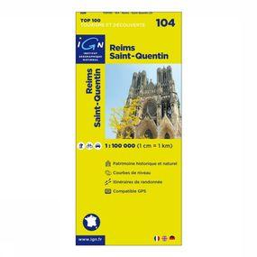Carte Reims / St-Quentin