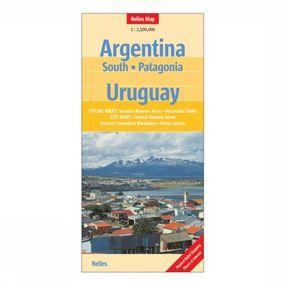 Carte Argentina South / Patagonia / Uruguay