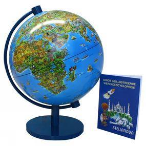 Wereldbol Dino met Wereldencyclopedie Franstalig