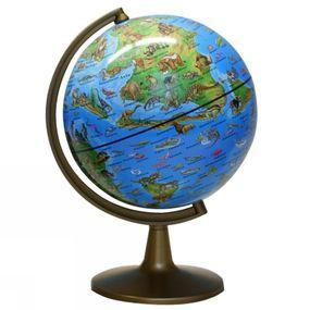 Wereldbol Dino Wereld met Wereldencyclopedie Franstalig